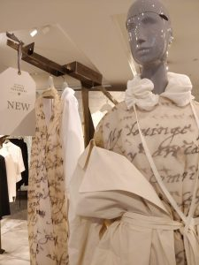 Photo of clothing with manuscript writing