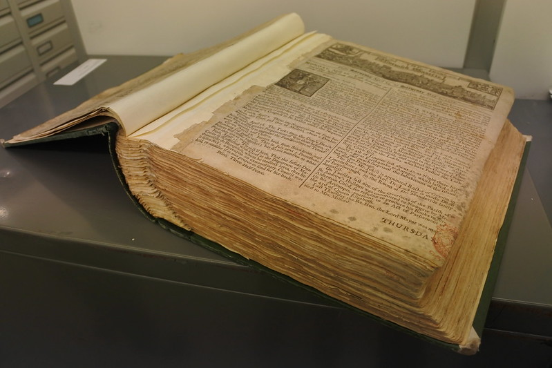 Photo of The Norwich Gazette in the British Library newspaper collection.
